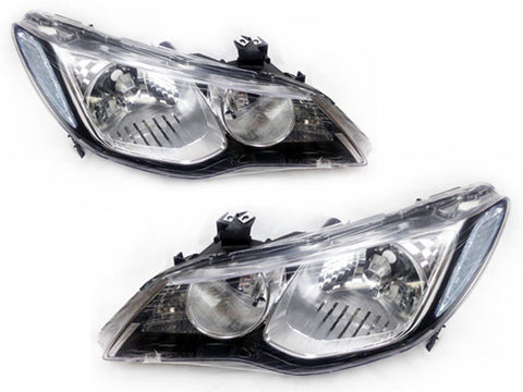 2006-2011 Acura CSX Black/Chrome Housing JDM Style Headlights