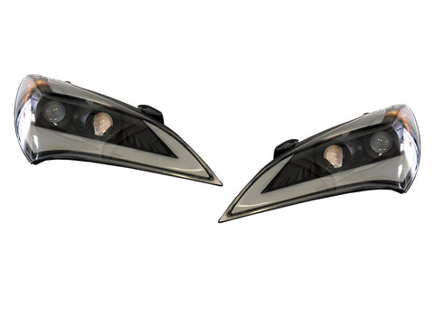 2010-2012 Hyundai Genesis Coupe Projector Style Headlights with LED Sequential