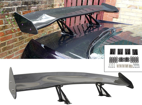 57 Inch Universal 3D GT Style Trunk Spoiler Wing Carbon Fiber (Version 2)