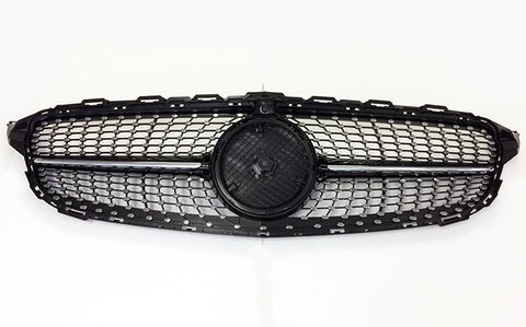 2015-2018 Mercedes-Benz C Class Diamond Style Front Grille