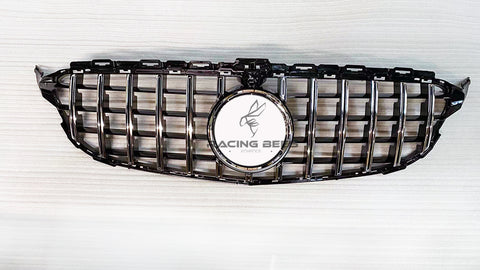 2015-2018 Mercedes-Benz C Class GT Style Front Grille (Silver)