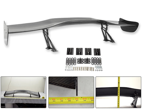 57 Inch Universal 3D GT Style Trunk Spoiler Wing Carbon Fiber (Version 1)