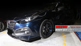 2014-2016 Mazda 3 Sedan/Hatchback KS Style Front Bumper Conversion (Add-On Lip)