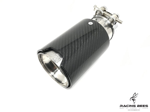 BMW Universal Carbon Fiber M-Performance Stainless Steel - Single Exhaust Tip 1 Piece