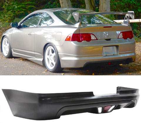 2002-2004 Acura RSX Mugen Style Rear Bumper Lip With Third Brake Light LED