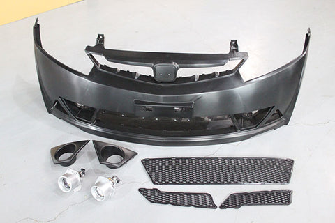 2006-2011 Honda Civic Sedan Mugen RR Style Front Bumper Conversion
