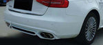 2013-2015 Audi A4 Base Bumper ABT Style Rear Diffuser & Tips (One Pair)