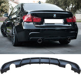 2012-2018 BMW F30 3 Series Rear Diffuser M Performance Style (Dual Outlet)