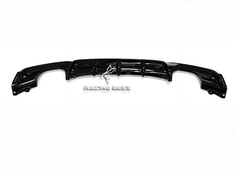 2012-2018 BMW F30 3 Series Gloss Black Rear Diffuser M Performance Style (Quad Outlet)