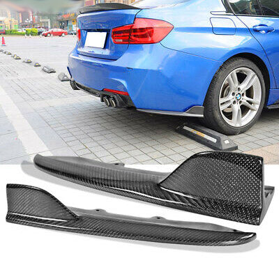 2012-2018 BMW F30 3 Series Rear Aprons MT Style (Carbon Fiber)