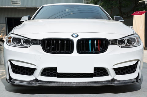 2012-2018 BMW F30/F32 3/4 Series V Style Front Bumper Lip FOR Replica M3/M4 Bumper (Carbon Fiber)