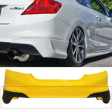 2012-2013 Honda Civic Coupe SI Only HFP Style Rear Bumper Spats