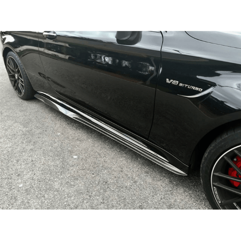 2015-2018 Mercedes-Benz C63 AMG Sedan/Coupe PSM Style Side Skirts (Carbon Fiber)
