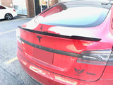 2012-2017 Tesla Model S Carbon Fiber Rear Trunk Spoiler V Style
