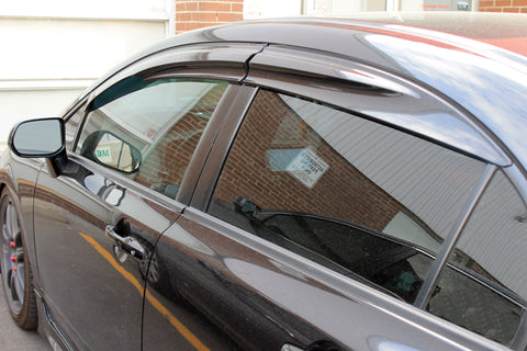 Window Visors Mugen Style for 2012-2015 Honda Civic (4door)