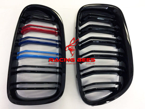2011-2016 BMW F10 5 Series M Style Tri-Colour Kidney Grilles