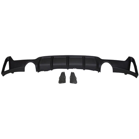 2014-2018 BMW F32 4 Series Rear Diffuser M Performance Style (Dual Outlet)