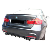 2012-2018 BMW F30 3 Series M-Tech Style Rear Bumper Conversion