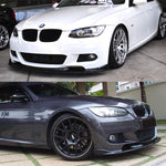 2007-2010 BMW E92/E93 3 Series 2 Door H Style Front Bumper Lip For M-Sport Bumper (Carbon Fiber)