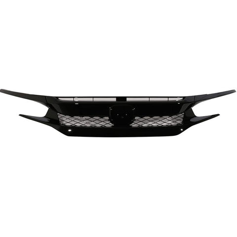 2016-2018 Honda Civic Type-R Style Front Grille (Black)