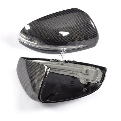 2015-2018 Benz w205 c-class w222 s-class Replacement Mirror Caps (Carbon Fiber)