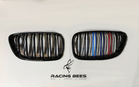 2014-2018 BMW F22/F23 2 Series M Style Tri-Colour Kidney Grilles