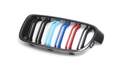 2012-2018 BMW F30 3 Series M Style Tri-Colour Kidney Grilles