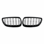 2007-2010 BMW E92 3 Series Coupe M Style Gloss Black Kidney Grilles