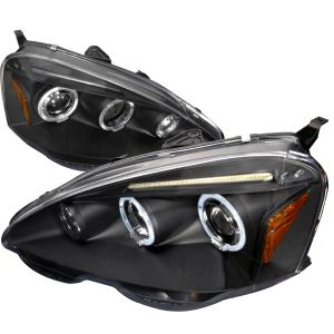 2002-2004 Acura RSX Black Housing Projector Style Headlights