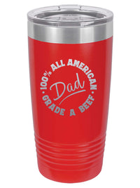 All American Grade A Dad - Engrave 20oz Red Polar Camel Tumbler - Sunny Box