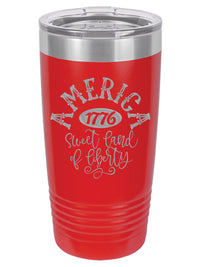 America Sweet Land of Liberty Patriotic Engraved Polar Camel Tumbler 20oz Red Sunny Box