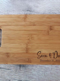 Personalized Engraved Bamboo Cutting Board - Sunny Box