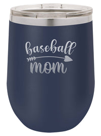Baseball Mom - Engraved 12oz Navy Polar Camel Tumbler - Sunny Box