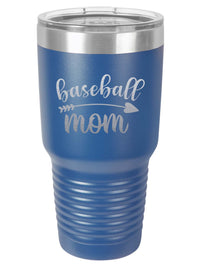 Baseball Mom - Engraved 30oz Polar Camel Tumbler Blue Sunny Box