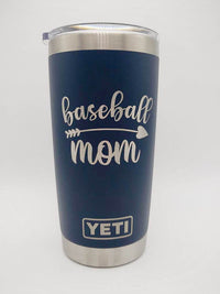 Baseball Mom Engraved Navy 20oz YETI