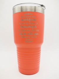 Be Strong and Courageous Joshua 1:9 Engraved Scripture Tumbler - 30oz Coral - Sunny Box