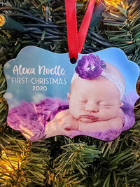 Personalized Photo Ornament - Christmas Gift - Sunny Box