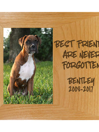 Best Friends Are Never Forgotten - Pet Memorial Personalized Wood Frame - Sunny Box