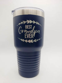 Best Grandpa Ever - Engraved Polar Camel 30oz Navy Tumbler by Sunny Box