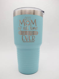 Best Mom of All Time Engraved Polar Camel Tumbler 30oz Light Blue Sunny Box