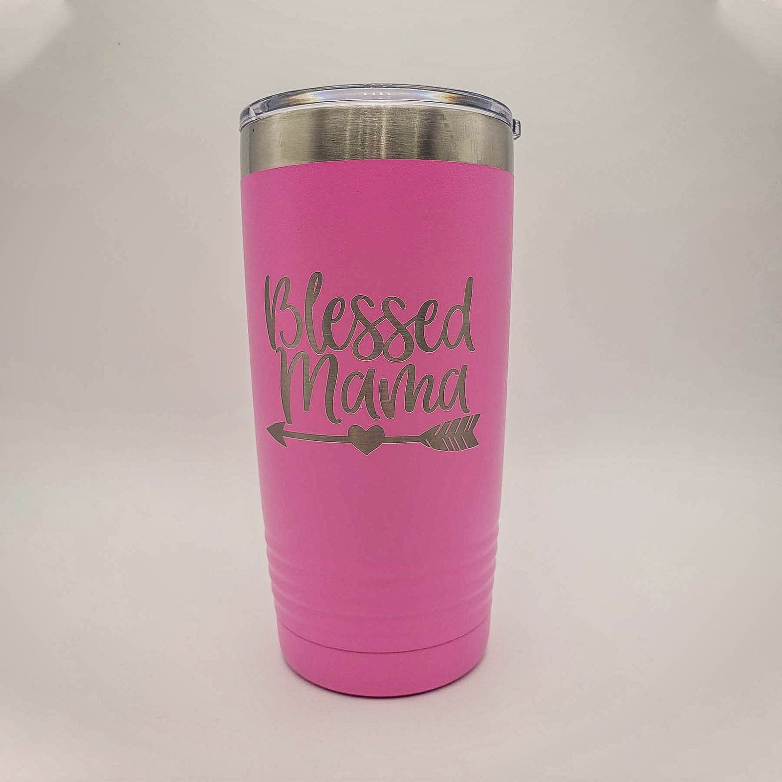 Personalized Laser Engraved 30oz Polar Camel Tumbler Blessed Mama Mothers Day Gift