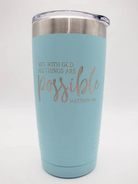 But With God All Things Are Possible Engraved Polar Camel Tumbler Sunny Box