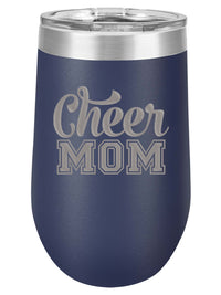 Cheer Mom Engraved Polar Camel 16oz Wine Tumbler - Sunny Box