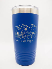 Child's Drawing / Handwriting Engraved 20oz Polar Camel Tumbler Blue by Sunny Box