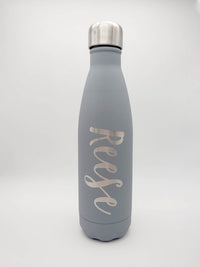 Engraved 17oz Cola Water Bottle - Gray Matte - Sunny Box