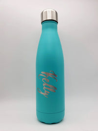 Engraved 17oz Cola Water Bottle - Light Turquoise - Sunny Box