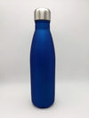 Engraved 17oz Cola Water Bottle - Blue Metallic Matte - Creatively Crowned Engraving