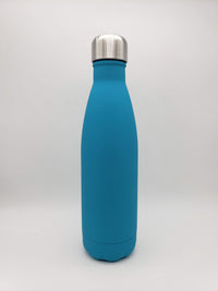 Matte Light Blue Engraved 17oz Cola Water Bottle - Creatively Crowned Engraving