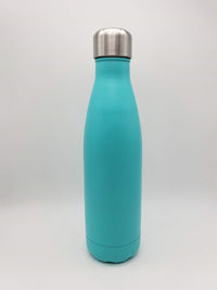 Light Turquoise Engraved 17oz Cola Water Bottle - Creatively Crowned Engraving