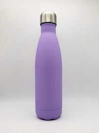 Engraved Matte Purple Engraved 17oz Stainless Cola Water Bottle - Sunny Box